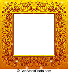 Golden holiday frame
