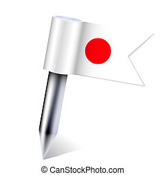 Vector Japan country flag isolated on white. Eps10