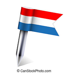 Vector Netherlands country flag isolated on white. Eps10