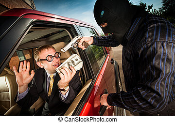 Robbery of the businessman