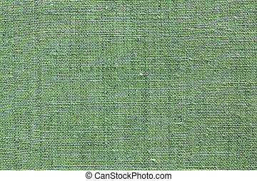 green linen texture for the background - green natural linen...