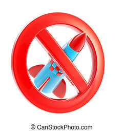 War forbidden sign icon isolated