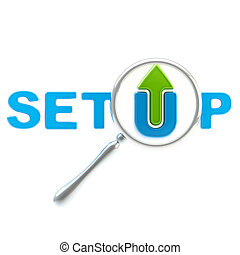 Word quot;setupquot; under the magnifier - Word setup under...