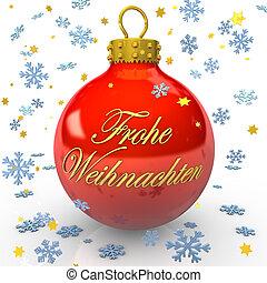 Frohe Weihnachten Weihnachtskugel - Rote Weihnachtskugel mit...
