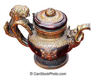 Oil lamp - An old, hand-made ??oil lamp
