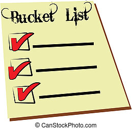bucket list - famous bucket list that we all have to do...