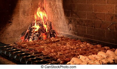 meat roasting in the oven 1