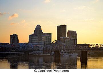 Louisville Skyline - Louisville skyline at dusk