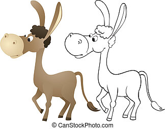 Cartoon donkey Vector Clipart EPS Images. 1,677 Cartoon donkey ...