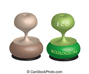 Eco stamps, vector