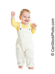 bebé, pasos, primero, tiempo, estudio, tiro