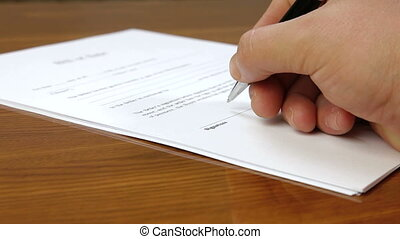 Hand Signing Contract - Businessman signing document