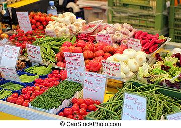 veg stall with fresh veg