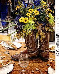 Table decoration - Cowboy style Table decoration