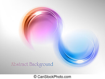 abstract shape on the white and grey background