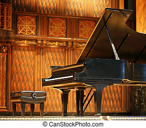 concierto, magnífico, piano