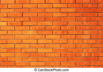 Just a red brick wall, nothing else