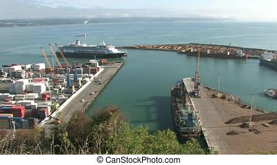 Cruise Boat Port of Napier - Napier, New Zealand. Cruise...