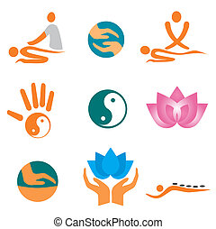 Icons_of_massage - Set of massage , wellnes and spa icons....