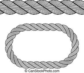 矢量, seamless, 黑色, 繩子, 符號