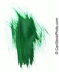 Green watercolor brush strokes with space for your own text