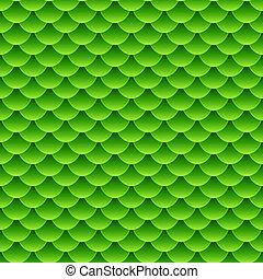 Seamless small green fish scale pattern - Seamless pattern...