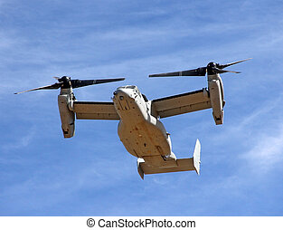 Bell Boeing V-22 Osprey in the desert sky