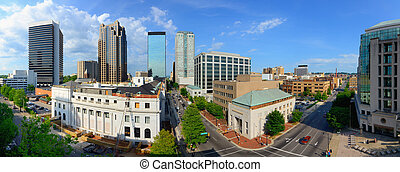 Birmingham Panorama - Panorama of downtown Birmingham,...