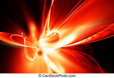 fiery explosion - abstract beautiful fiery explosion on a...