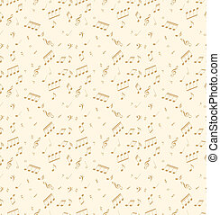 Seamless abstract pattern with music symbols. Vector...