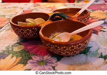 quentes, Picante, Mexicano, habanero, salsa, molho, lima