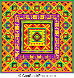 mexican square background - vector square background with a...