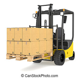 Forklift Truck and Pallet. - Forklift Truck with a Pallet...