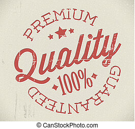 Vector retro premium quality stamp - Vector retro premium...