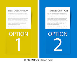 Set of Colorful Vector Sample option cards - Set of Colorful...