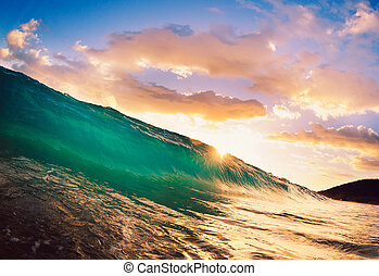 Sunset Wave - Beautiful Sunset Wave