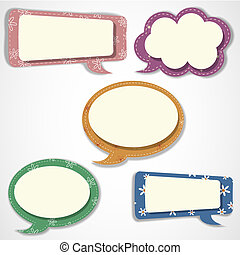 Speech bubbles and scrapbook elements - Speech bubbles...