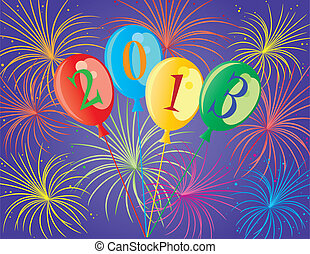 Happy New Year 2013 Balloons Illustration - Happy New Year...