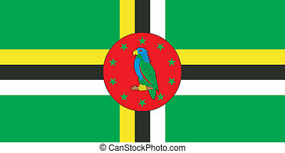 Dominica flag - Various vector flags, state symbols, emblems...