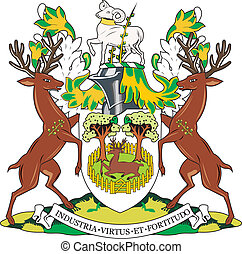 Derby city coa - Various vector flags, state symbols,...