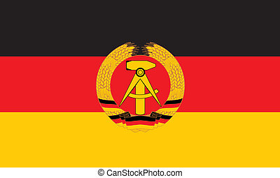 Ddr flag - Various vector flags, state symbols, emblems of...