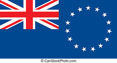 Cook islands flag - Various vector flags, state symbols,...