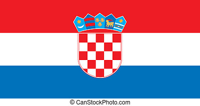 Croatia flag - Various vector flags, state symbols, emblems...