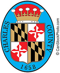 Charles county seal - Various vector flags, state symbols,...