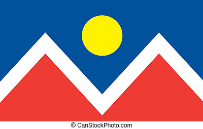 Denver city flag - Various vector flags, state symbols,...