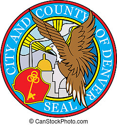 Denver city seal - Various vector flags, state symbols,...