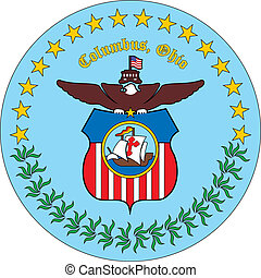 Columbus city seal - Various vector flags, state symbols,...