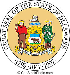 Delaware seal - Various vector flags, state symbols, emblems...