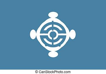 Chuo ku flag - Various vector flags, state symbols, emblems...