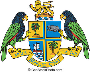 Dominica coa - Various vector flags, state symbols, emblems...